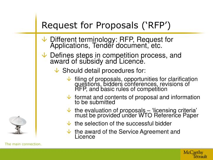 Request for Proposals ('RFP')