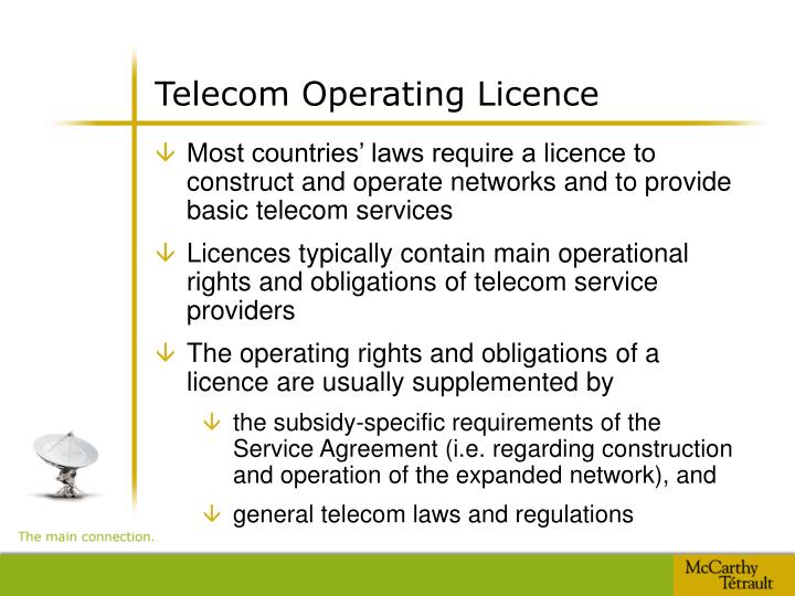 Telecom Operating Licence