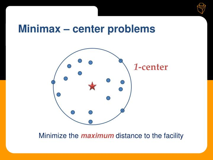 Minimax – center problems
