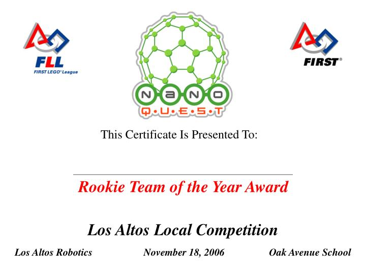 Rookie Team of the Year Award