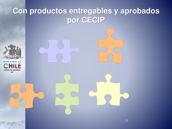 Con productos entregables y aprobados por CECIP