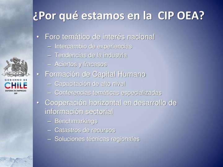 ¿Por qué estamos en la  CIP OEA?