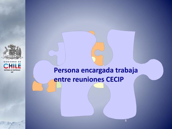 Persona encargada trabaja entre reuniones CECIP