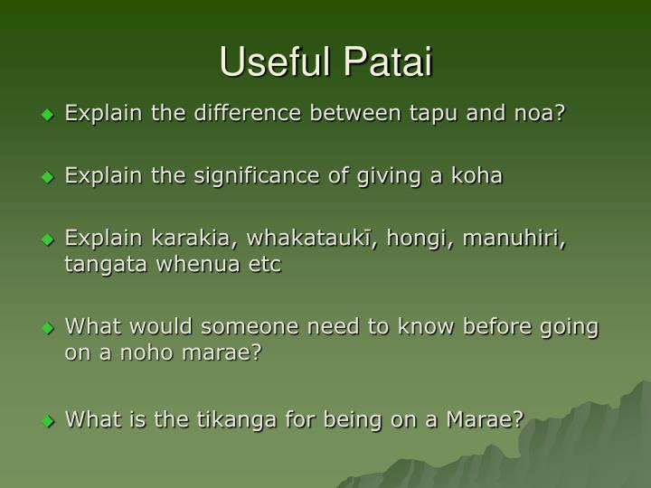 Useful Patai