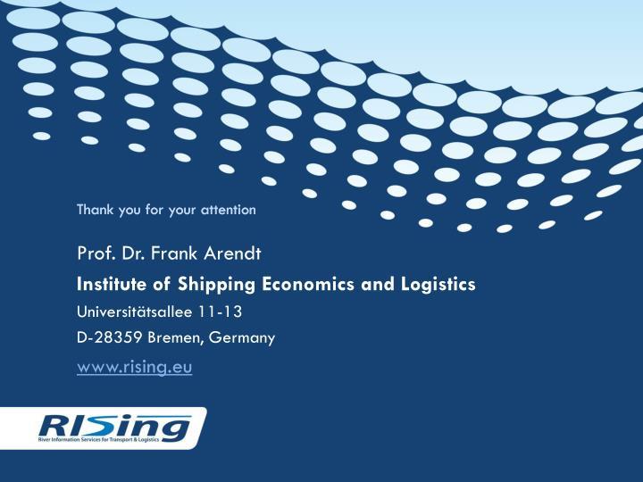 Prof. Dr. Frank Arendt