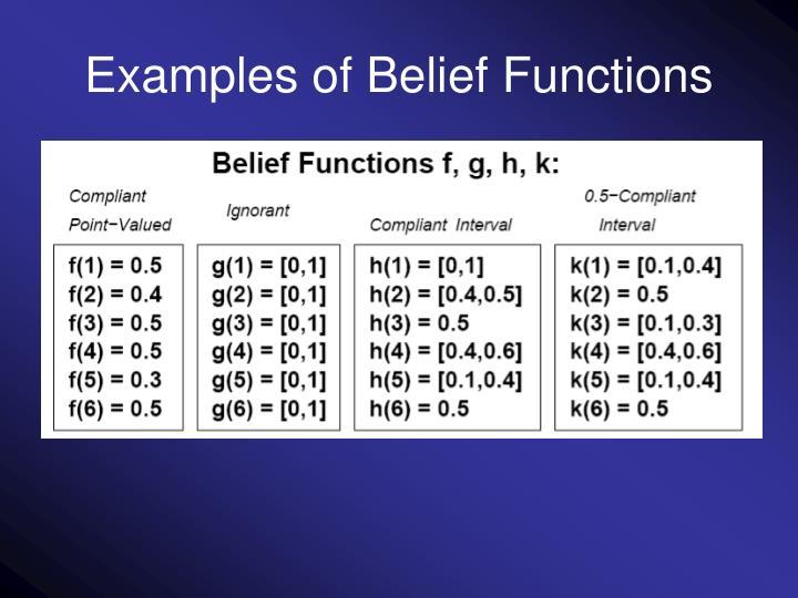 Examples of Belief Functions