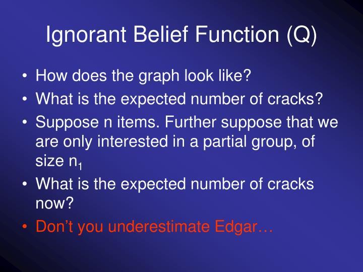Ignorant Belief Function (Q)
