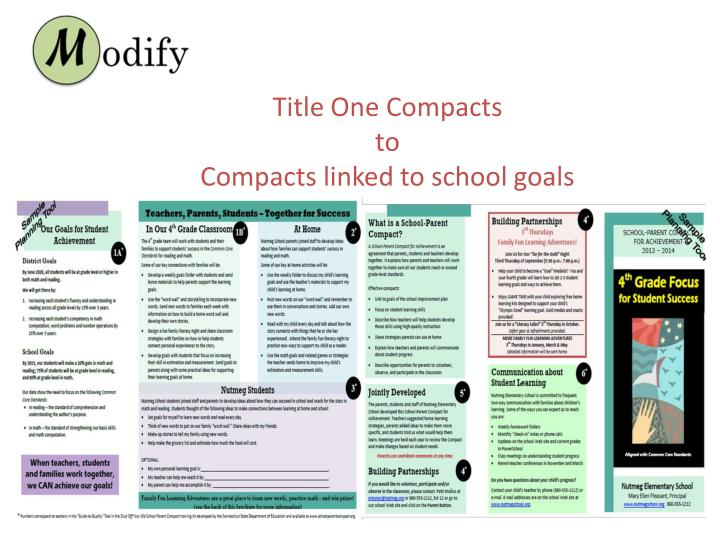 Title One Compacts