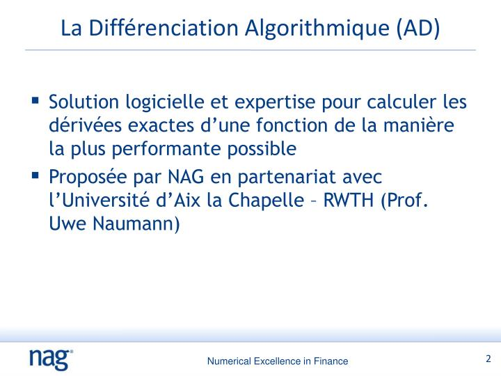 La diff renciation algorithmique ad