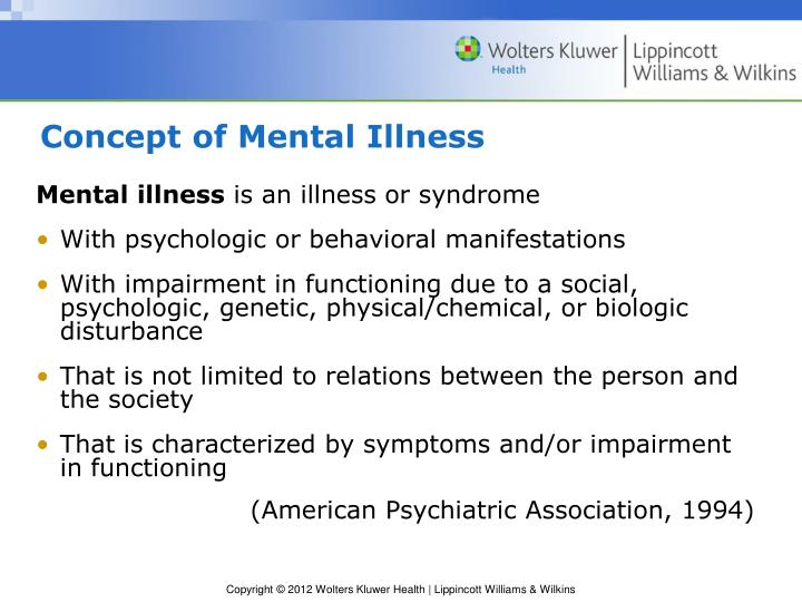 Concept of Mental Illness