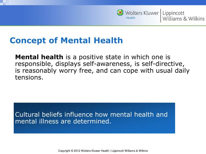 Concept of Mental Health