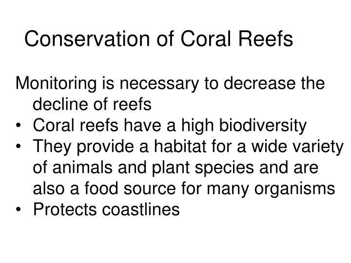 Conservation of Coral Reefs
