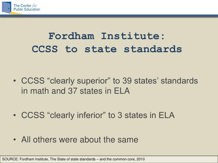Fordham Institute: