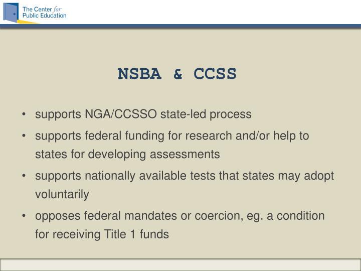 NSBA & CCSS