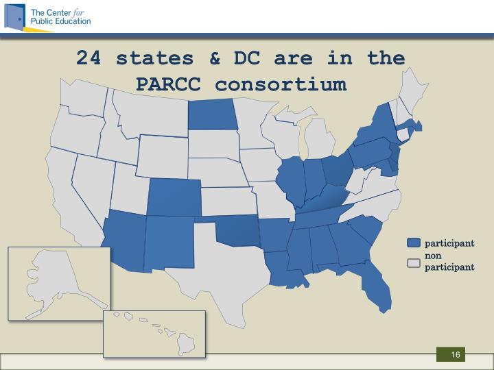 24 states & DC are in the PARCC consortium
