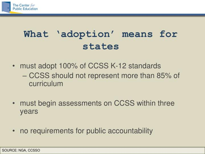 What 'adoption' means for states