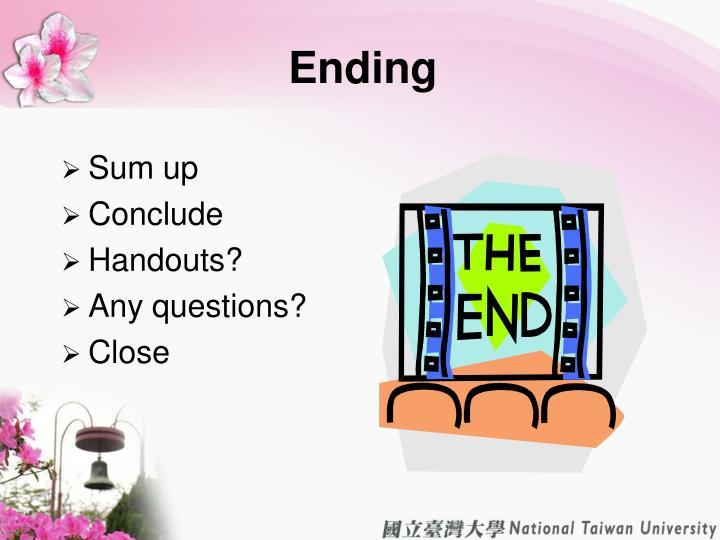 Ending