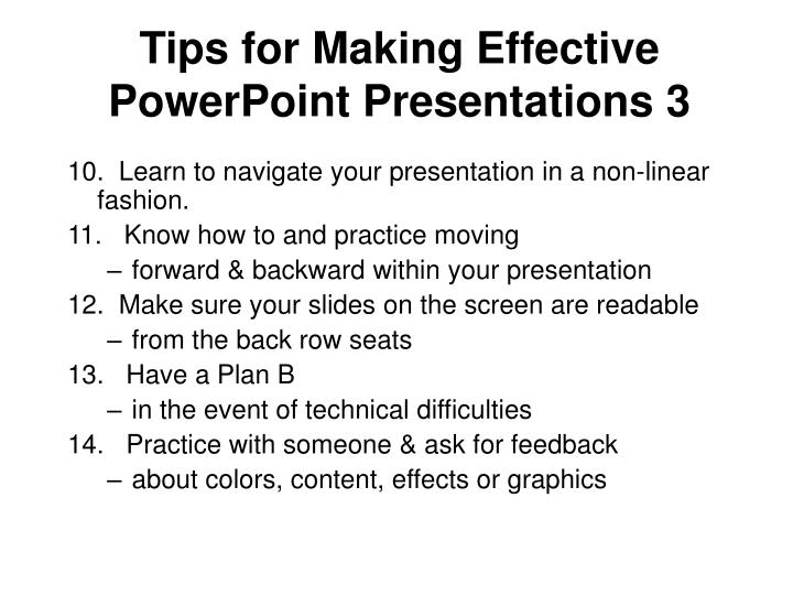 Tips for Making Effective PowerPoint Presentations 3