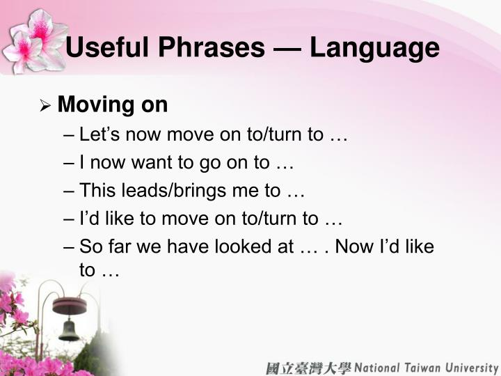 Useful Phrases — Language