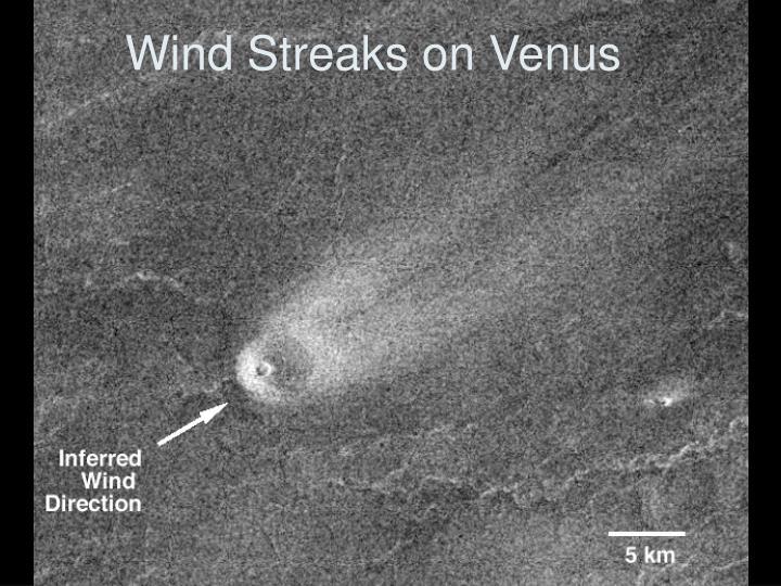 Wind Streaks on Venus