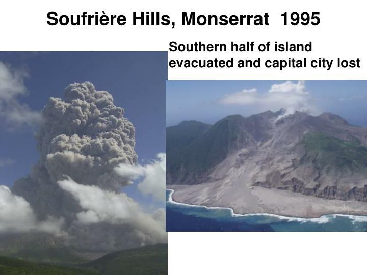 Soufrière Hills, Monserrat  1995