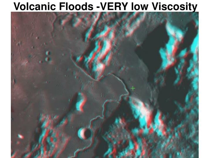 Volcanic Floods -VERY low Viscosity