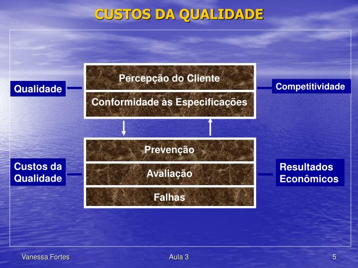 CUSTOS DA QUALIDADE