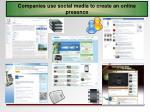 companies use social media to create an online presence