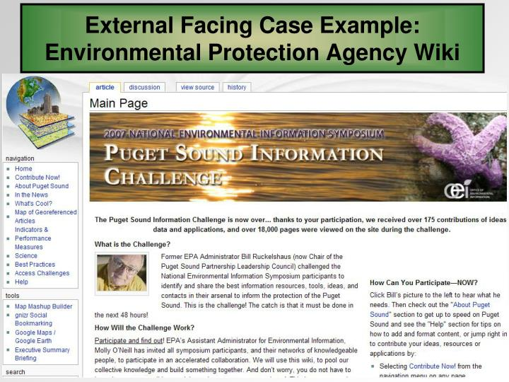 External Facing Case Example:
