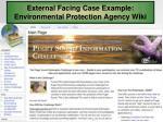 external facing case example environmental protection agency wiki