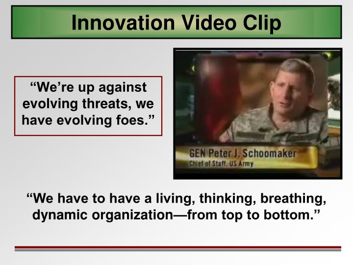 Innovation Video Clip