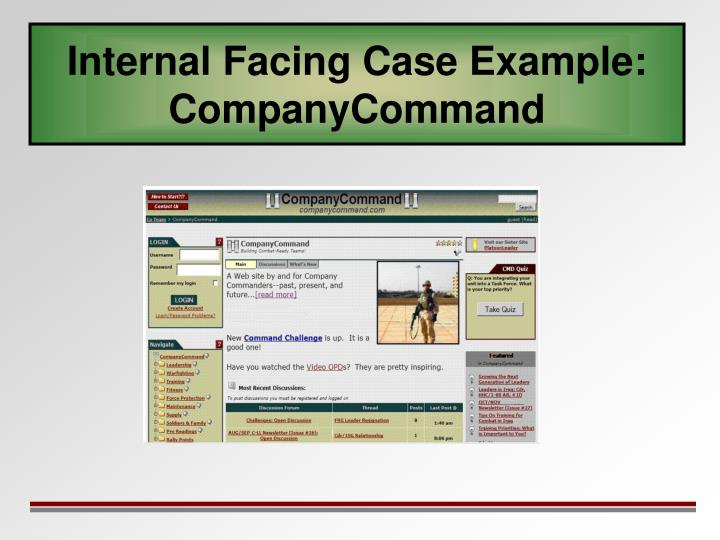 Internal Facing Case Example:
