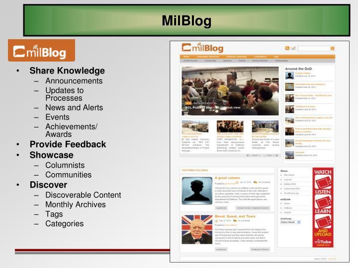 MilBlog