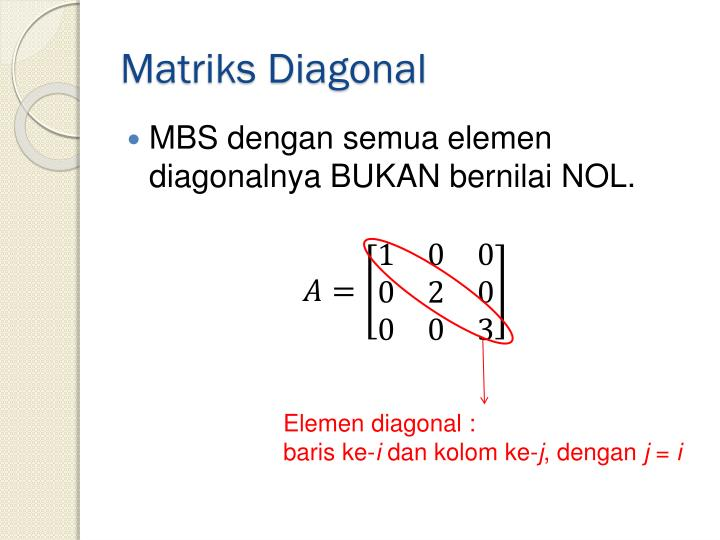 Matriks Diagonal