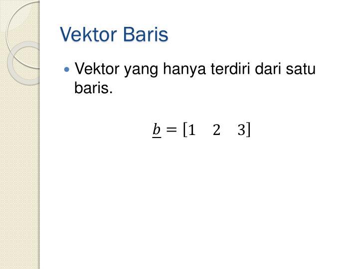 Vektor Baris