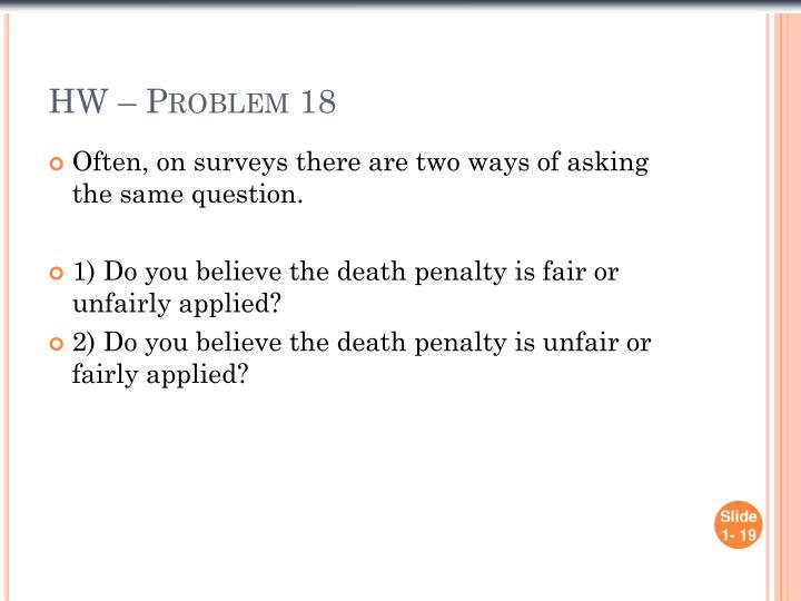 HW – Problem 18