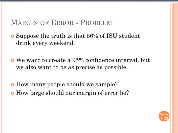 Margin of Error - Problem