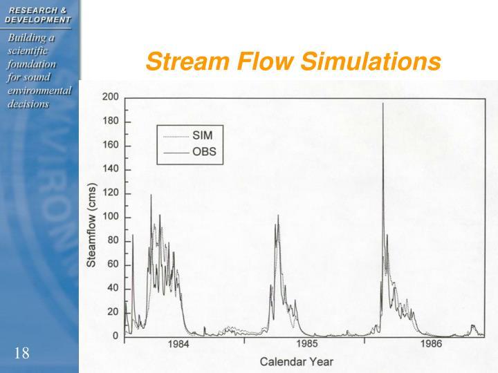 Stream Flow Simulations