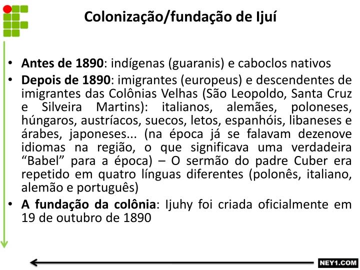 Colonização/fundação de Ijuí