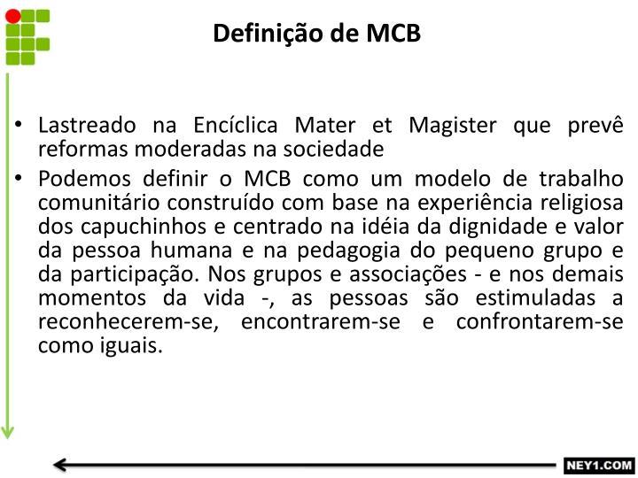 Definição de MCB