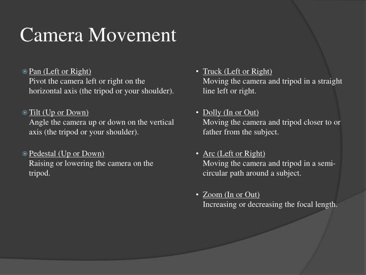 Camera Movement