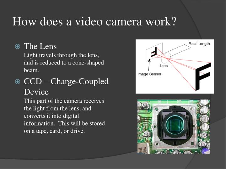 How does a video camera work
