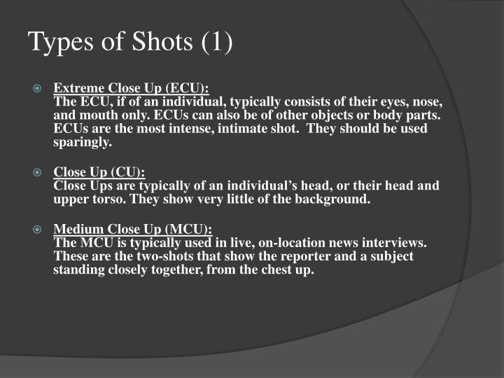 Types of Shots (1)