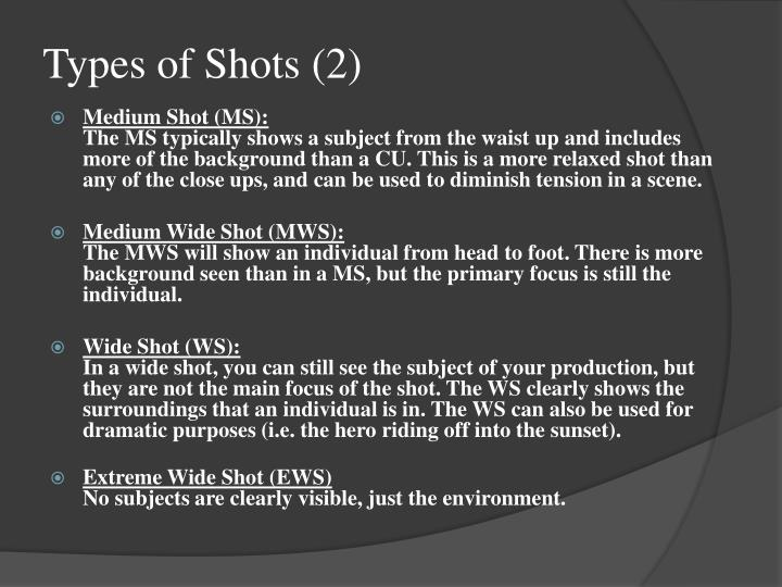 Types of Shots (2)