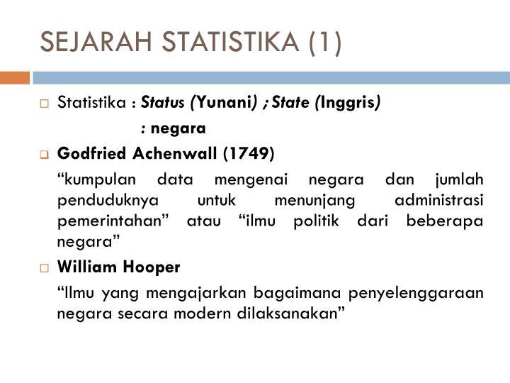 SEJARAH STATISTIKA (1)