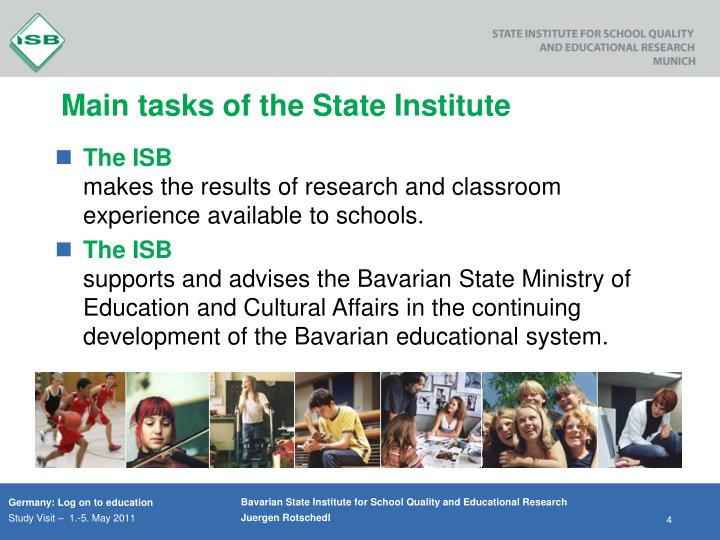 Main tasks of the State Institute
