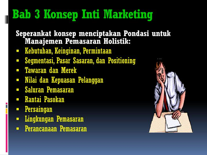 Bab 3 konsep inti marketing