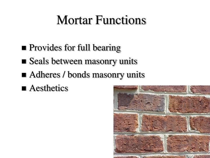 Mortar Functions