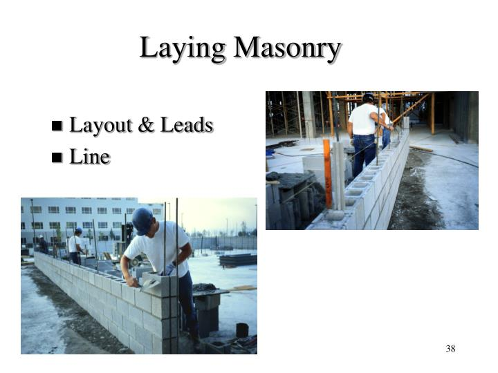 Laying Masonry