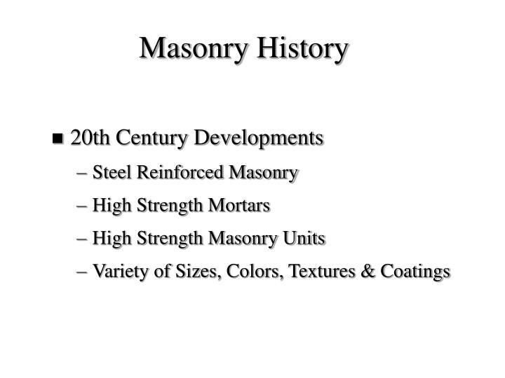 Masonry History